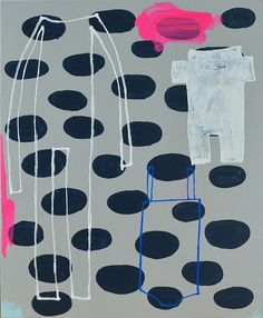 A Jumpsuit, a Romper, and a Bathing Suit; painting by Shelly Klein of k studio.