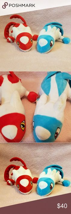 Latios and Latias Pokemon Plush Latios and Latias Pokemon Plushies. They are a little dirty shown in picture two but other than that perfect condition. I'd like to sell both together but I can separate if truly desired. Pokemon Other
