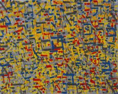 Indiewalls: 2013-067 Psalm 49 Silver, Yellow, Red, Blue by Alyse Radenovic