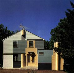 Michael Graves, Schulman House, Princeton, New Jersey, 1976  #architecture #drawing Pinned by www.modlar.com