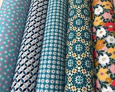 Check out our coated cotton fabric selection for the very best in unique or custom, handmade pieces from our craft supplies & tools shops. Creative Inspiration, Floral Tie, Craft Supplies, Cotton Fabric, Fabrics, Coat, Handmade, Etsy, Shopping