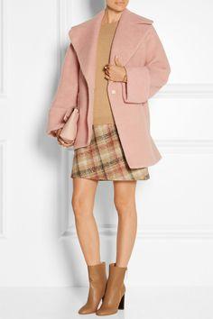 Carven|Oversized boiled wool-blend coat|NET-A-PORTER.COM