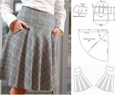 Amazing Sewing Patterns Clone Your Clothes Ideas. Enchanting Sewing Patterns Clone Your Clothes Ideas. Diy Clothes Patterns, Skirt Patterns Sewing, Clothing Ideas, Sewing Pants, Sewing Clothes, Skirt Sewing, Fashion Sewing, Diy Fashion, Costura Fashion