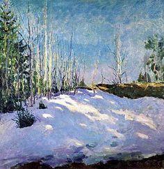 Dernière neige, huile sur toile de Igor Emmanuilovich Grabar (1871-1960, Hungary)