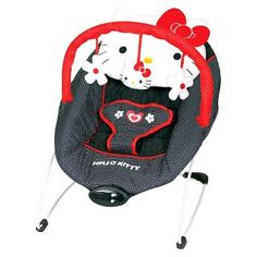 Baby Trend EZ Bouncer - Hello Kitty Classic Dot - Baby Accessories - Kids furniture - Nursery Necessity - New Born and Up - For all Hello Kitty moms out there, here's the perfect little baby gear to keep in the house. by Baby Trend Hello Kitty Nursery, Hello Kitty Baby Shower, Hello Kitty Baby Stuff, Baby Swings And Bouncers, Baby Lyrics, Baby Doll Accessories, Baby Bouncer, Dream Baby, Kawaii