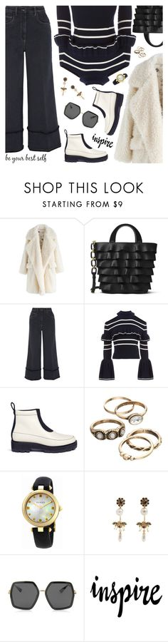 """Denim Trend"" by sproetje ❤ liked on Polyvore featuring Chicwish, Michael Kors, Miu Miu, self-portrait, 3.1 Phillip Lim, Gucci, Erdem, WALL, StreetStyle and ruffles"