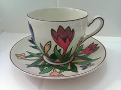 Crocus Ware Tea Cup and Saucer