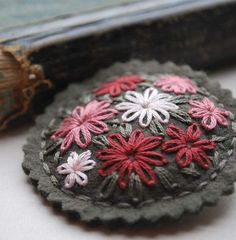 embroidered felt. by donna