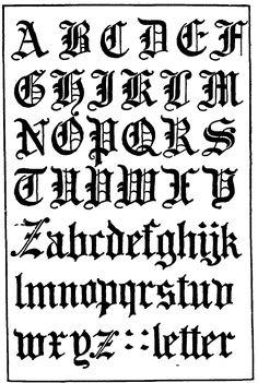 Gothic Script Letters Pictures