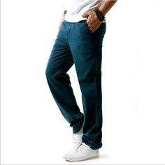Summer Linen Robe Super Ventilate Men Casual Wear Pants Comfort/2017 men high-grade tourism movement pants/Asian M- 4XL