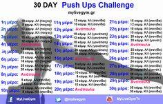 Εντατικό πρόγραμμα ενδυνάμωσης μυών με κάμψεις | My Live Gym | Γυμναστήριο Online | mylivegym.gr