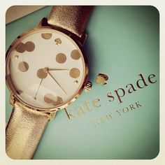 Kate Spade polka dot watch