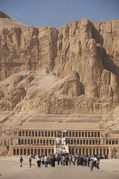 UNESCO World Heritage Site - Ancient Thebes with its Necropolis including Hatshepsut's Temple on the west bank of the Nile River, Deir el-Bahri, Egypt