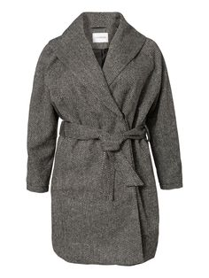 Stay elegant this fall in this plus size wrap coat from JUNAROSE #junarose #plussize #coat