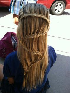 Sweet S hair braid--wonder if I could do this???