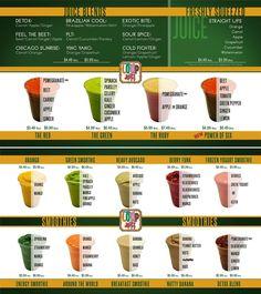 The Loop Juice menu in Chicago - The Green - Hähnchenschenkel - # Smoothie Menu, Smoothie Shop, Juice Smoothie, Smoothie Recipes, Raw Juice Bar, Juice Bar Menu, Drink Menu, Juice Bars, Healthy Bars