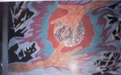 My Art:  Saving the world 50 x 66 Watercolor 1997