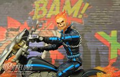 """#Marvel Legends Rider Series 6"""" Ghost Rider With Motorcycle Set Video Review & Image Gallery #Marvel"""