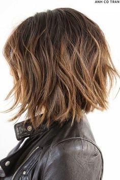 short brown haircut