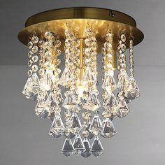 Buy John Lewis Katelyn Semi-flush Light, Satin Brass Online at johnlewis.com