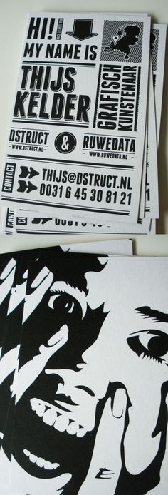 Creative Business Card: Black & White Cards