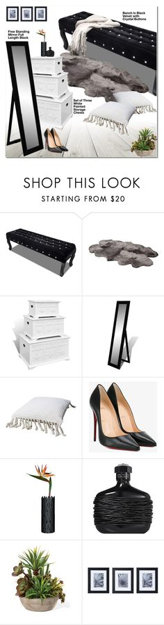 """Lov Dock"" by oshint ❤ liked on Polyvore featuring interior, interiors, interior design, home, home decor, interior decorating, UGG Australia, Christian Louboutin, Alessi and John Varvatos"