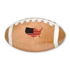Flag Map of the USA Plush Football