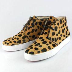 Christian Louboutin Leopard Suede Men's Sneakers