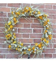 Bring Me Sunshine - Dried Flower Wreath