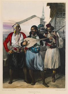 Greek musicians and singers. Southern Italy, Ottoman Empire, Historical Pictures, Albania, Europe, Paris, Painting, Singers, Musicians