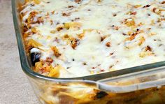 Eggplant and Beef Pasta Casserole