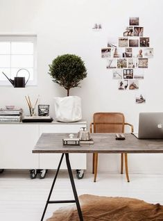 Your office should be as transitional as your day to day tasks. Love pinning inspo pics around a work space which can be changed easily and as often as you like.