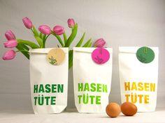 """Geschenkverpackungen für Ostern """"Hasentüten"""" / paperbag for Easter gifts, holidays made by Ixi-und-Frida via DaWanda.com"""