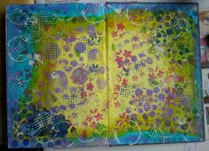 Student Work by ta_i_pa in Inventive Ink – Colorful Mixed Media Effects class. Art Journal Background. Register here: craftsy.me/1G3Ymom