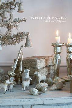 Putz sheep and mercury glass ornaments                                                                                                                                                                                 Mehr