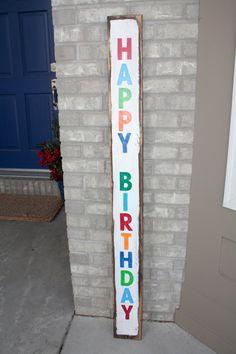 Handmade happy birthday Sign by JollySigns on Etsy, $30.00