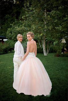 Love this! Brides.com: . Portia DeRossi marries Ellen DeGeneres in Zac Posen, 2008.