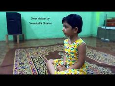4 years old girl doing swarvistar in her first singing class (Swarsiddhi)