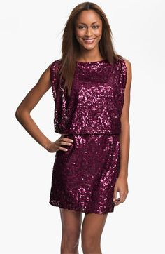 Jessica Simpson Sequin Blouson Dress available at #Nordstrom