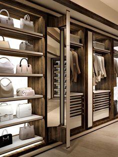 Wardrobe Room, Wardrobe Design Bedroom, Closet Bedroom, Shoe Closet, Sliding Wardrobe, Walk In Closet Design, Closet Designs, Industrial Bedroom Design, Casa Milano