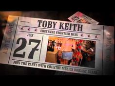 The Daddy of 'Em All brings entertainers like Toby Keith, Dwight Yoakam and Jason Aldean to town!  http://www.cheyenne.org/cfd-rodeo/