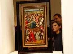 "Queen Letizia of Spain attends the ""El Bosco"" 5th Centenary Anniversary Exhibition at the El Prado Museum on May 27, 2016 in Madrid, Spain."