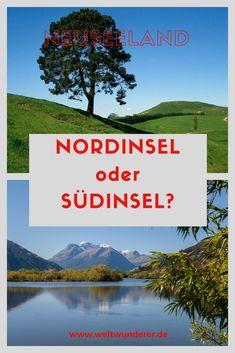 Die Frage aller Fragen vor einer Neuseeland-Reise: lieber die Nordinsel oder die Südinsel besuchen? Welche ist besser, schöner, toller? Oder kann man das gar nicht entscheiden? #Neuseeland #Nordinsel #Südinsel