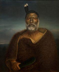Gottfried Lindauer, Eru Tamaikoha Te Ariari, 1903, oil on canvas Auckland Art Gallery