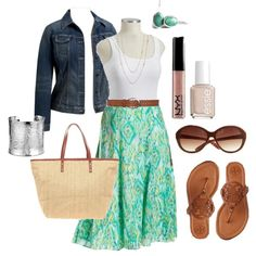 """Summer Skirt - Plus Size"" by alexawebb on Polyvore"