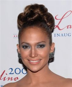 Jennifer Lopez Updo: Love this one! Another possible wedding hairstyle. Seems elegant and low maintenance.