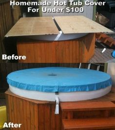 Diy hot tub cover