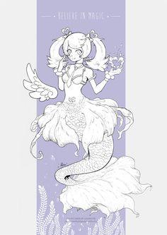 Angel Mermaid by Alma-Fox