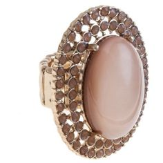 Nude Pink Oval Ring ($7.91) ❤ liked on Polyvore