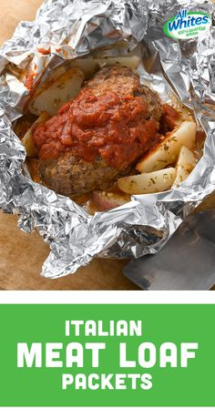 Lean beef and lentils are mixed with onion, oregano and Parmesan or Romano cheese, then topped with marinara. It's baked in the oven or on the grill in a foil packet with potatoes.